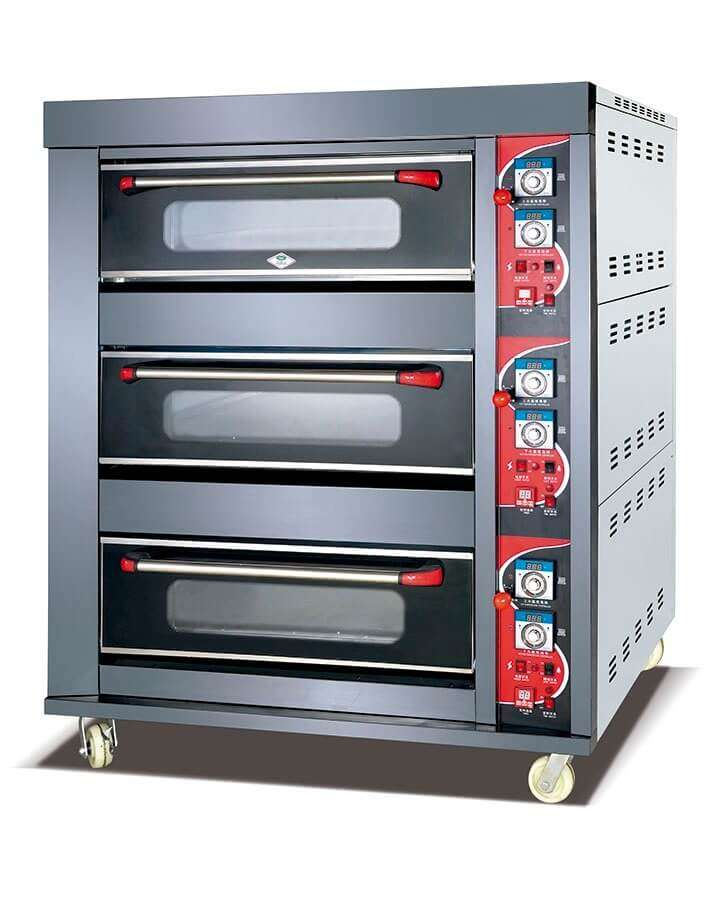 oven gas 3 deck 6 tray