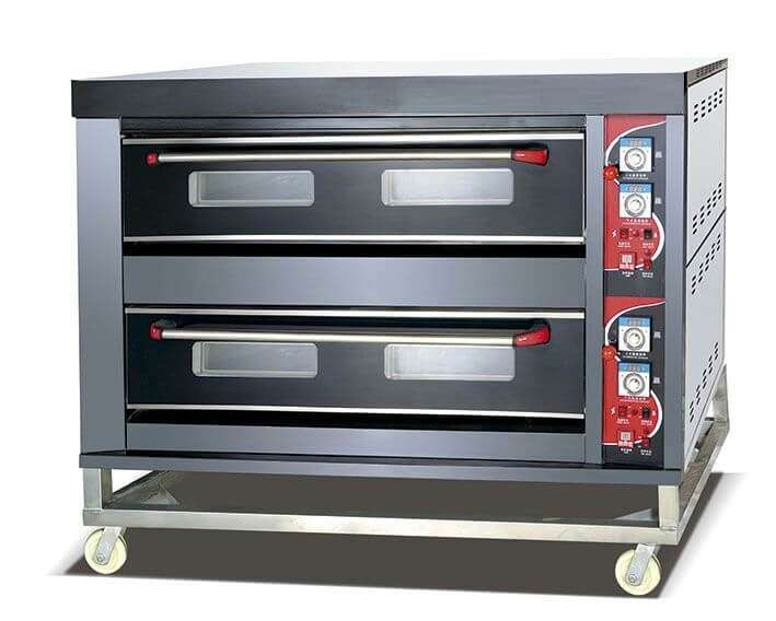 oven gas 2 deck 6 tray