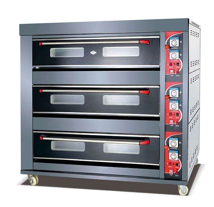 oven gas 3 deck 9 tray