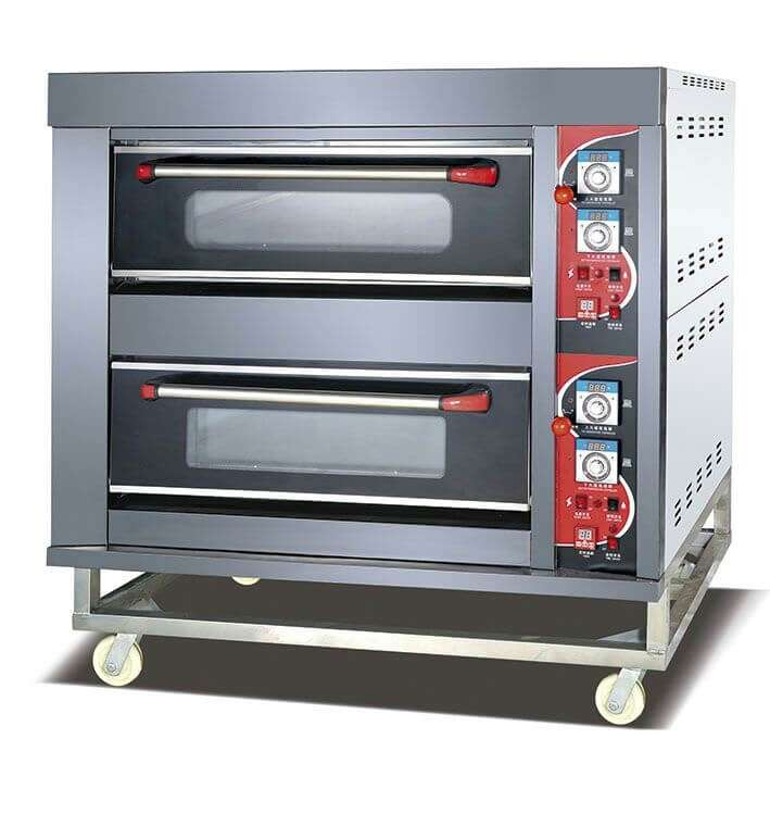 oven gas 2 deck 4 tray